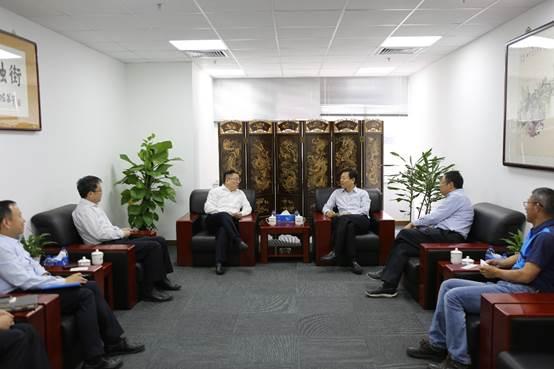 交通银行北京分行行长刘建军一行到金融街集团调研