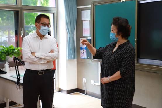 市领导调研正泽学校开学复课和疫情防控工作
